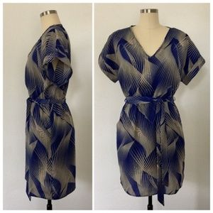 Dresses & Skirts - Blue & Tan Boutique Dress
